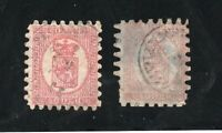 Finland - Sc# 10 (2) Used/ thin & very thin papers  /    Lot 0720631