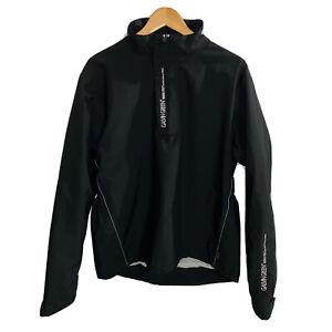 Galvin Green Gore-Tex Performance Shell Black Half Zip Pullover Men's Large EUC