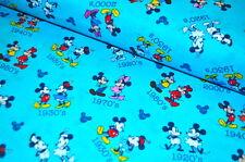 DISNEY Mickey Mouse USA Designerstoff  0,5 m MAUS RETRO 1920S RETRO COMIC MINNIE