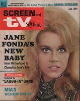 Screen and TV Album January 1969 Jane Fonda  Mia Farrow  062819DBE