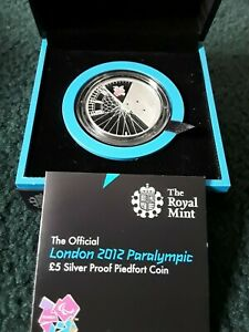 2012 Royal Mint UK Paralympic Silver Proof Piedfort £5 Coin