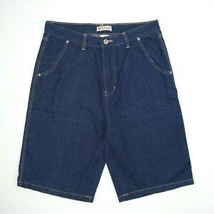 BR Classic Denim Dark Blue Wide Straight Leg Denim Shorts Men's Size 82 W32