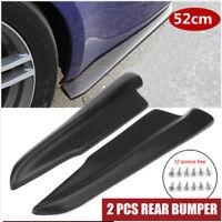 2pcs 52cm Car Rear Bumper Spoiler Rear Lip Angle Splitter Diffuser Anti-crash