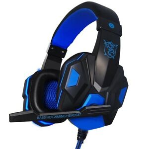LED Headphones Gamer Wired Auriculares Audifonos Gaiming For PC Xbox One 360 PS4