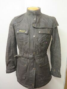 BELSTAFF Ladies Bradford Waxed Cotton Jacket / Coat L UK 14/16 Euro 42-44 Green