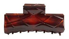 Caravan French Diamond Design Hair Claw Tortoises Shell, .65 Ounce