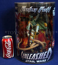 "New BOBA FETT UNLEASHED 11"" Star Wars Figure Statue SARLACC Pit TARGET EXC Tube"