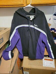 Fedex Fleece Hooded Jacket Reflective Zip Size XL