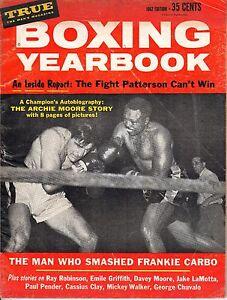 1962 True Boxing magazine, Archie Moore vs. Joey Maxim, Floyd Patterson ~ Fair