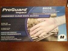 ProGuard Impact Powdered Clear Vinyl Gloves, 100 pieces, M size