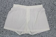 vintage Jockey Mens Nylon Boxers Underwear fly Front White size 34