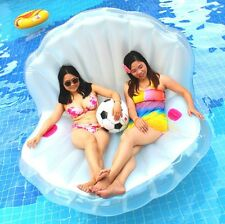 """Party 67"""" Raft Women Swimming Pool Giant Shell Rideable Inflatable Float Toy"""
