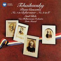 TCHAIKOVSKY: KLAVIERKONZERTE 1 & 2 - EMIL GILELS, LORIN MAAZEL  CD NEW!