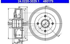 ATE Juego de 2 tambores frenos CITROEN C2 C3 PEUGEOT 206 206+ 24.0220-3029.1