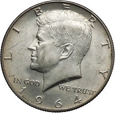 1964 President John F. Kennedy Silver Half Dollar United States USA Coin i44600