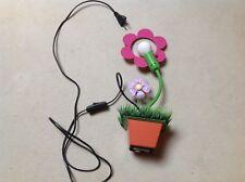 Lampe de chevet à poser fleurs enfants luminaire rose violet orange