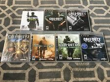 LOT OF 7 CALL OF DUTY PLAYSTATION 3 GAMES, PS3, COMPLETE W/MANUALS