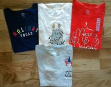 OLD Navy EVERYWEAR Tee SHIRT T-Shirt TOP Christmas CAT Holiday MERRY Gnome NEW!!