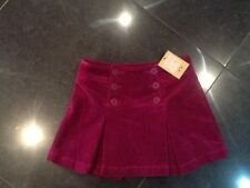 NWT Juicy Couture New & Gen. Girls Age 8 Pink Velour Skirt Wth Gold Juicy Logo