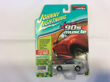 Johnny Lightning JLMC014 Muscle Car 1999 Ford Mustang GT Ver A Silver Metalic