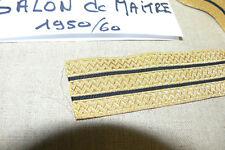 MARINE NATIONALE 0,75 m GALONS DE MAITRE ( Fil métal, 1950) PETTY OFFICER'S RANK