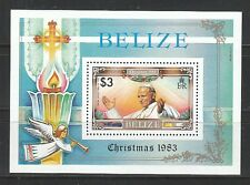 674) Belize: Block 62, Papst Johannes Paul II., Weihnachten!