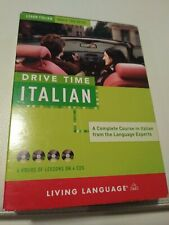 Drive Time Italian (4) Discs. Living Languages. New Other.