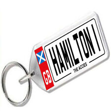 "NUMBER PLATE KEYRING FOR FOOTBALL FANS "" HAMILTON 1 """