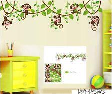 Wandtattoo Wandsticker Affe Monkey Tier Jungle Wald Baum Junge Mädchen Aufkleber