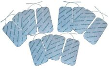 SET OF 12 LARGE REUSABLE TENS ELECTRODE PADS FOR TENS MACHINES 10cm x 5cm