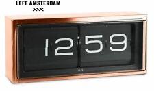 LEFF Amsterdam Brick - Design Wand- und Tischuhr Schwarz Kupfer Copper NEU OVP