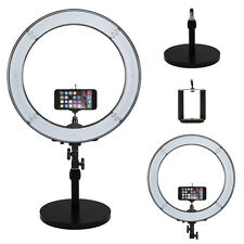 """Prismatic Led Halo 18"""" Ring Light with Weighted Light Stand & Phone Mount"""