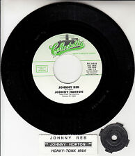 "JOHNNY HORTON  Johnny Reb & Honky Tonk Man 7"" 45 rpm record + juke box strip NEW"