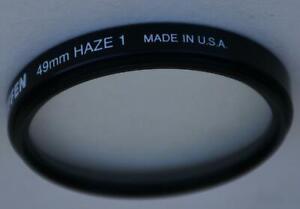 Tiffen 49mm UV Haze 1 Filter & Plastic Filter Case New