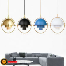 Postmodern minimalist Nordic style multicolor metal rotatable LED chandelier