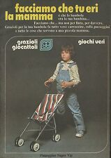 X4637 Grazioli giocattoli - Giochi veri - Passeggino - Pubblicità 1977 - Advert.