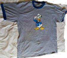 Vintage 90's DONALD DUCK Saluting - Walt Disney Store Ringer T-shirt - X-Large