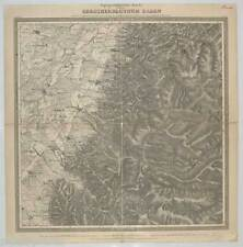 Steinbach-Topographische Karte über das Herzogthum Baden - Lithographie 1843