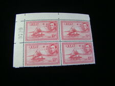 Fiji Scott #132b Plate # Block Of 4 Mint Never Hinged