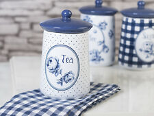 KATIE ALICE Vintage Indigo TEA CANISTER With Silicon Seal