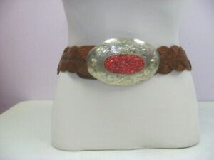 MOROCCAN LEATHER BELT WITH SILVER BUCKLE / UNISEX