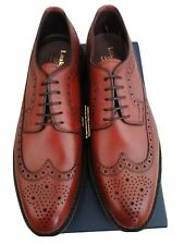 LOAKE 1880 BIRKDALE BROWN CALF LEATHER BROGUES . SIZE 10.. HANDMADE IN ENGLAND