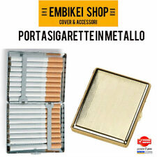 Portasigarette in metallo astuccio porta sigarette