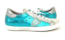 PHILIPPE MODEL NWT $375 Classic L D Mixage Turquoise Sneakers Sz 38 / US 7.5