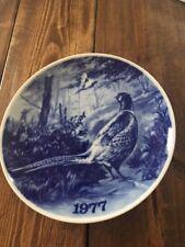 Pheasant Blue Porcelain Plate