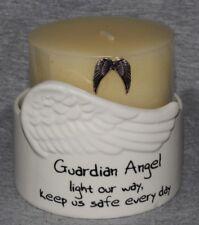 Guardian Angel Inspirational Pillar Candle Holder Decorative Home Decor Ornament