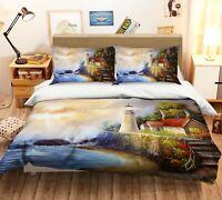 3D Lighthouse Sea ZHUA2258 Bed Pillowcases Quilt Duvet Cover Set Queen King Zoe