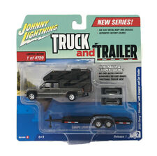 Johnny Lightning Truck And Trailer And Camper 1/64 2002 Chevy Silverado Model