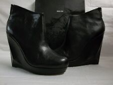 Dolce Vita Size 9.5 M Fury Black Leather Wedges Booties New Womens Shoes