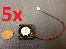 5x GDT mini Cooler 12V 2pin 2510 25x25x10mm DC Cooling Fan micro brushless c7